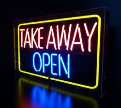 Take Away Open Neon sign